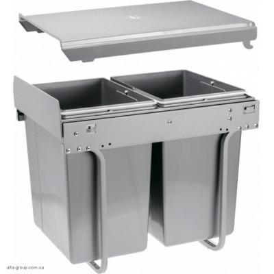 Сегрегатор для кухонних шаф 400 мм 20 + 20 л