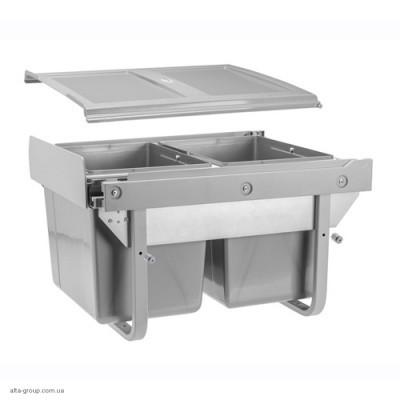 Сегрегатор для кухонних шаф низький 450 мм 2 х 15 л