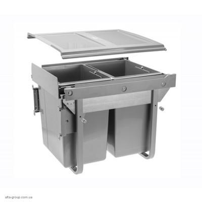 Сегрегатор для кухонних шаф високий 2 х 20 л (з кріпленням)