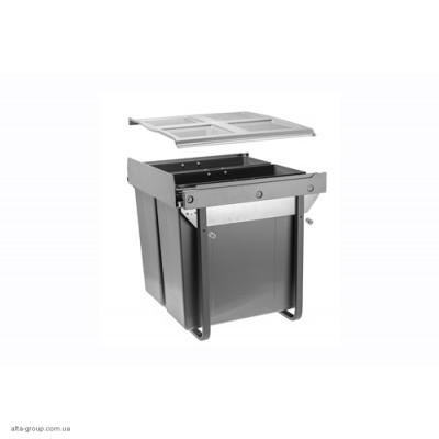 Сегрегатор для кухонних шаф 600 мм 2 х 34 л з кріпленням