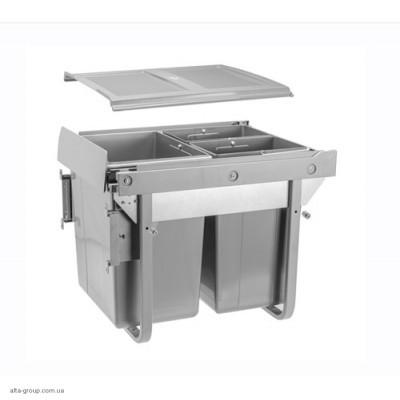 Сегрегатор для кухонних шаф високий 450 мм 20 + 2х10 л з кріплення