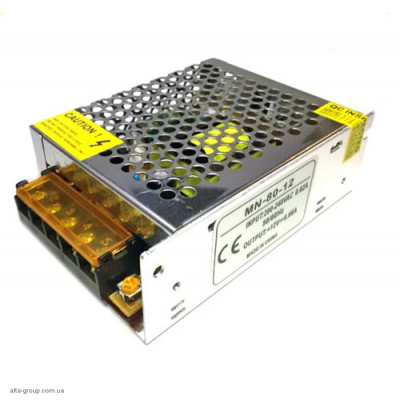 Блок живлення 80W, 12V, 6.6А (80Вт, 12В) для світлодіодних стрічок, модулів MR-80-12
