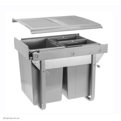 Сегрегатор для кухонних шаф високий 450 мм 20 + 2х10 л без кріплення