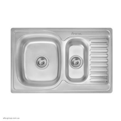 Кухонна мийка Imperial 7850 0.8 мм Satin