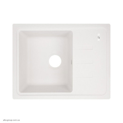 Гранітна мийка Lidz 620x435/200 WHI-01