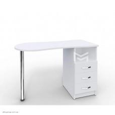 Манікюрний стіл M100 Естет білий з висувними ящиками