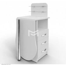 Манікюрний стіл M101K Естет №1 компакт білий зі складною стільницею