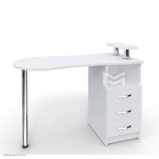 Манікюрний стіл M102 Естет №2 білий з висувними ящиками