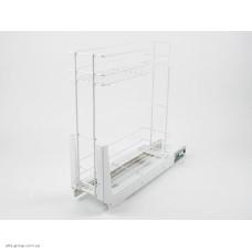 Карго 150/2 повне висування біле/хром DC
