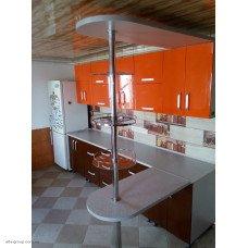 Кухня під індивідуальне замовлення (фасад глянець оранжевий)