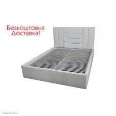 Двоспальне ліжко Sofi з м'якою оббивкою (шоколад, білий)