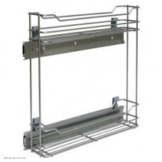 Карго 150/2 боковое выдвижение с доводчиком VARIANT PLUS хром/белое REYS