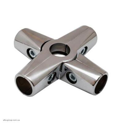 Кріплення R-45 (З'єднувач 5-х труб) Хром