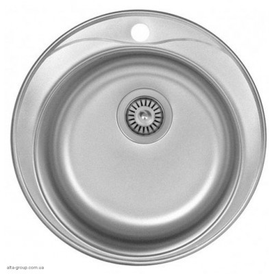 Кухонна мийка Kraft кругла 51 матова