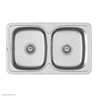 Кухонна мийка Matteo F401 з нержавіючої сталі