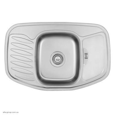 Кухонна мийка врізна кутова заокруглена F-7851