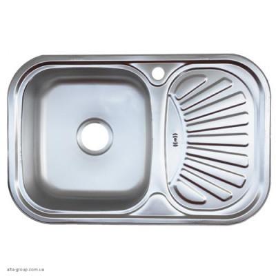 Кухонна мийка Kraft заокруглена 75*49 декор