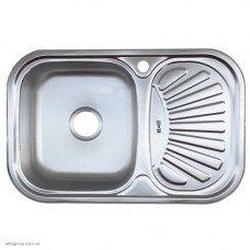 Кухонная мойка Kraft закругленная 78x48 0.8/180 Decor
