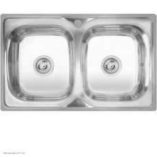 Кухонная мойка Kraft 401 двойная прямоугольная