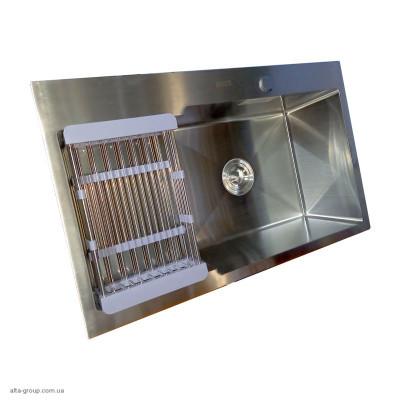 Кухонна мийка Kraft HS 7848 AR Handmade з нержавіючої сталі