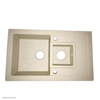 Кухонна мийка керамічна прямокутна дві чаші LUNA 780х460 SAND