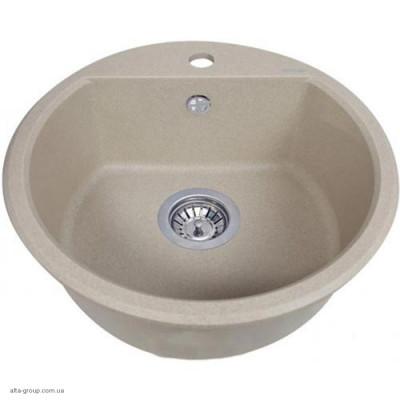 Кухонна мийка керамічна кругла FI510 SONNO SAND