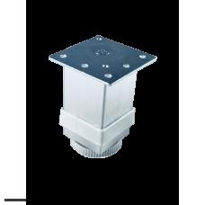 Ніжка металева меблева 04B квадрат