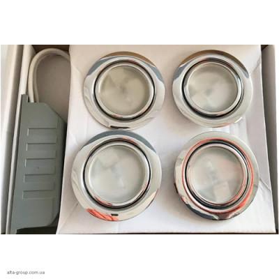 Набір 4 світильника+Трансформатор HY105W 12V/20W (Сатин, Хром)