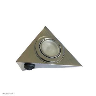 Світильник трикутний LPT3B з вимикачем (Латунь, Хром, Золото, Сатин)