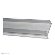 Профіль щілинний цокольний прозорий