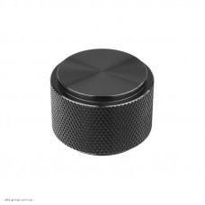 Ручка для меблів кнопка Virno Lines 407/16 чорний