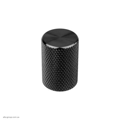 Ручка для меблів кнопка Virno Lines 407 чорний
