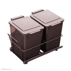 Відро для сміття подвійне коричневе