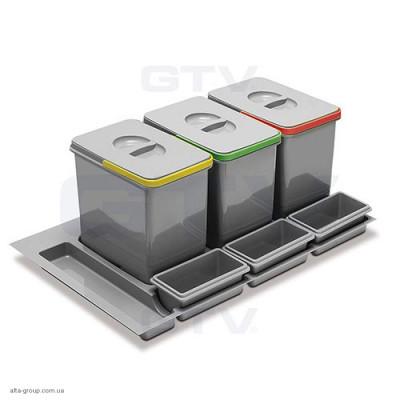 Сегрегатор MULTINO 900 мм 3 X 15 л + 3 ємності