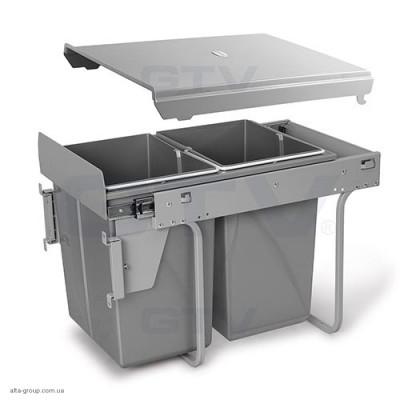 Сегрегатор для кухонних шаф 400 мм 2 х 20 л з кріпленням