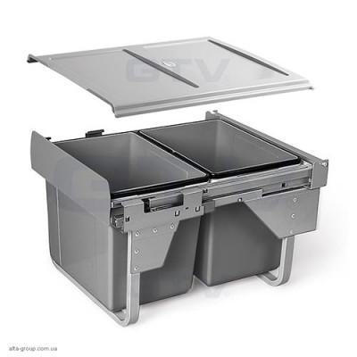Сегрегатор для кухонних шаф низький 450 мм 2 х 15 л (з кріпленням)