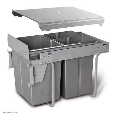 Сегрегатор для кухонних шаф 20 + 2х10 л з кріпленням
