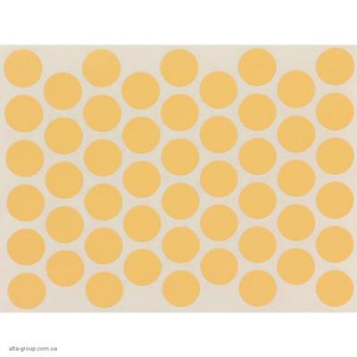 Заглушка самоклеюча на конфірмат жовта