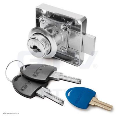 Замок ZZ-CF-138-01 квадратний+електронний ключ